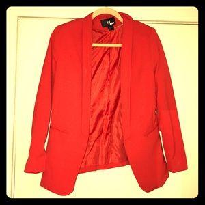 Trendy Red Blazer